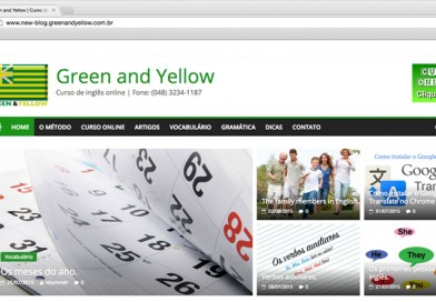 Novo blog Green and Yellow.